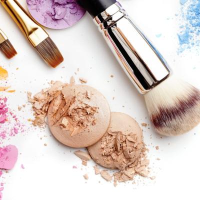 make-up cosmetics isolated on white background